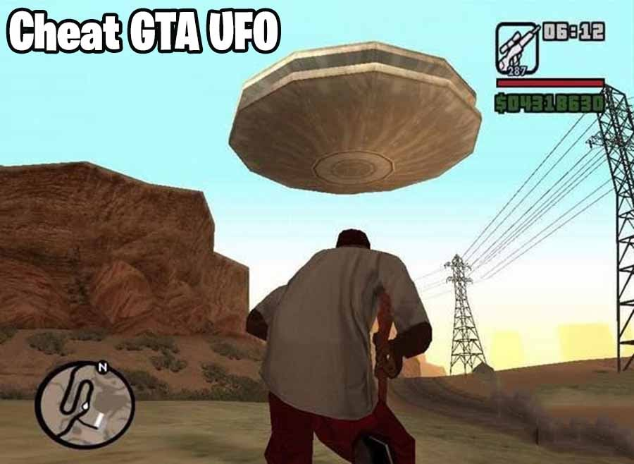 cheat gta ufo