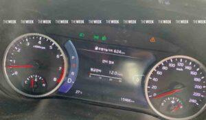 panel speedometer KIA Seltos - touchscreen